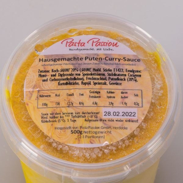 puten curry sauce